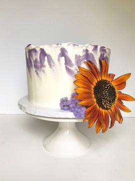 Orange Sunflower Cake