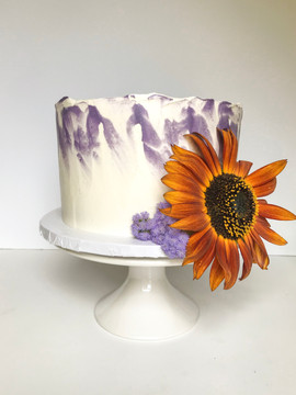 Orange Sunflower Cake