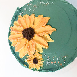 Painted Sunflower Cake