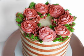 Rose Gold Striped Cake