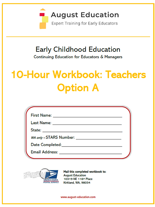 Ten-Hour Workbook | Option A | Teachers
