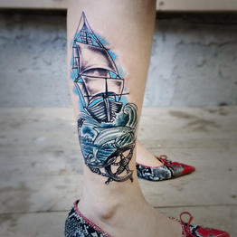 Traditional and Neotraditional Tattoo Gallery