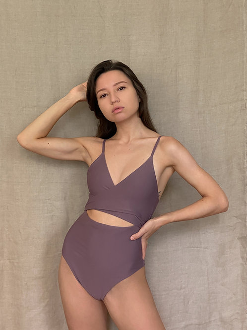 Sustainable one-piece swimwear
