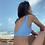 Sky blue sustainable swimwear