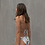 Sustainable Swimsuit with tropical pattern