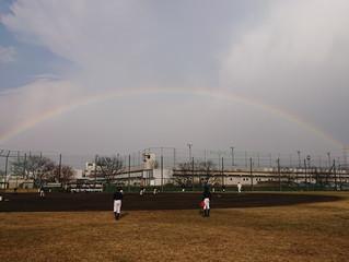 にわか雨と虹