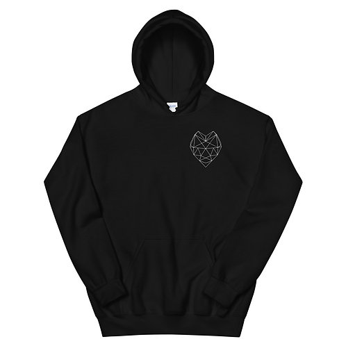 Unisex Hoodie White heart Not today