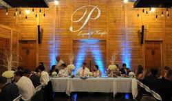wedding reception at Teaghlach Meadows