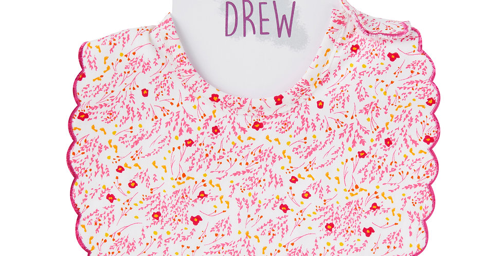 Pink Field Dolly Bib