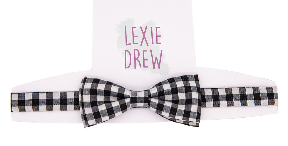 Black Gingham Daddy Bow Tie