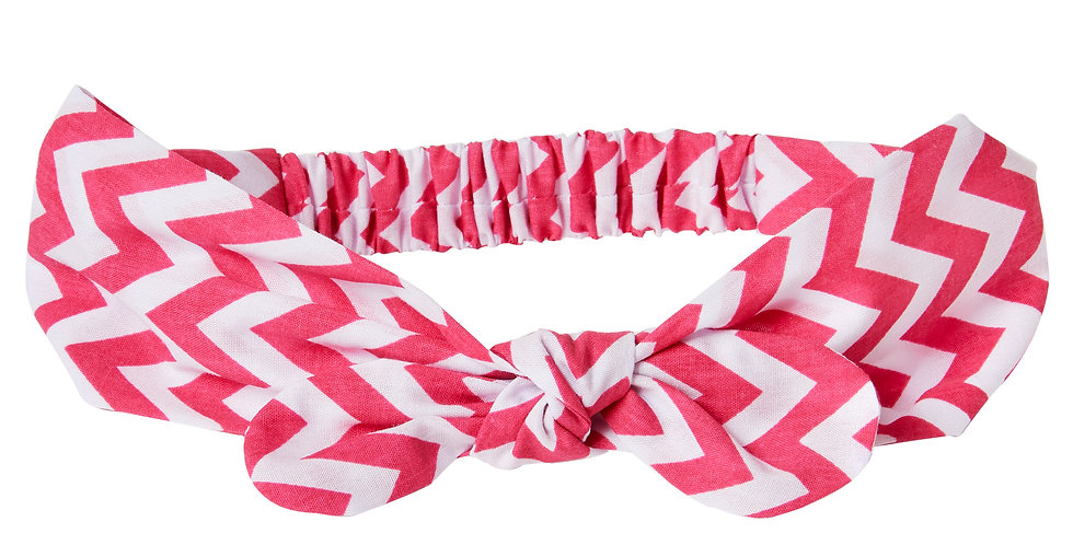 Pink Zig Zag Miss Mop Hairband