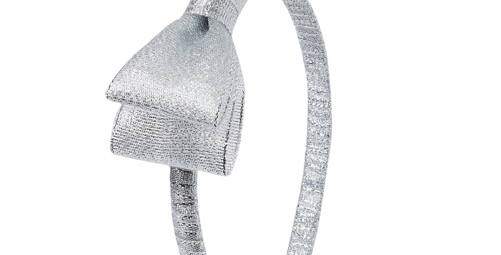 Silver Glitter Traditional Hairband