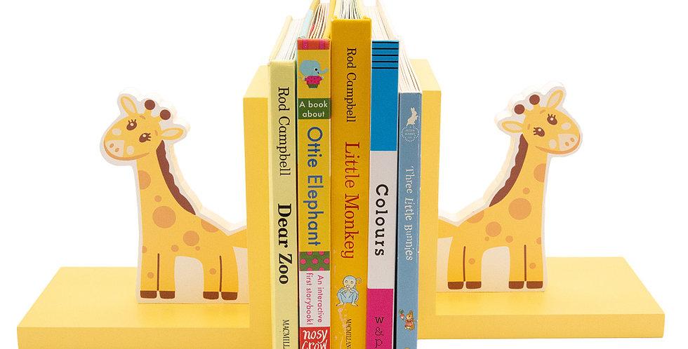 Wooden Giraffe Bookends