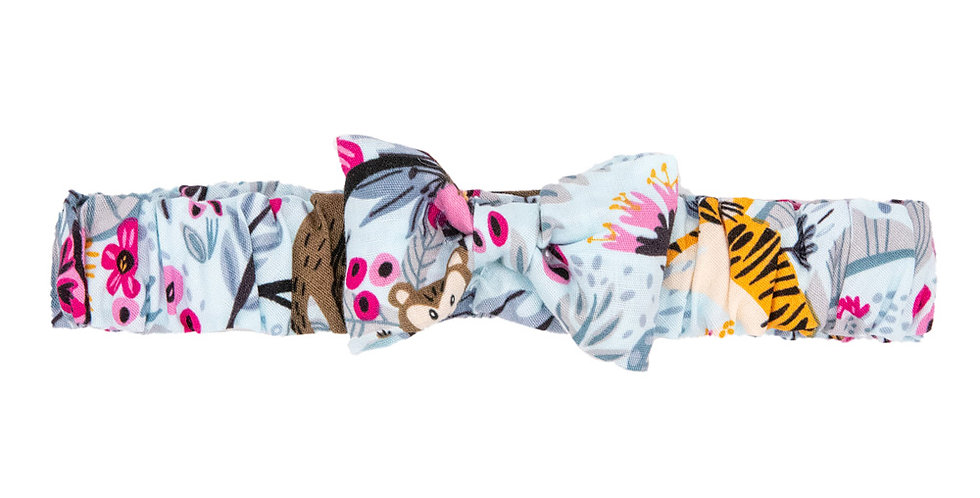 Jungle Print Soft Bow Hairband