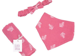 Gift Set Pink Feather Outlaw BIb, Soft B