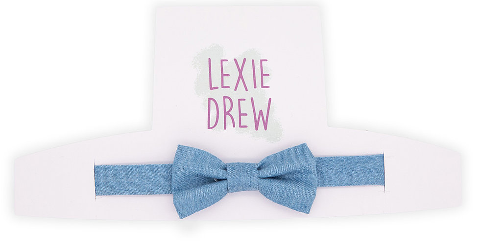 Blue Denim Little Man Bow Tie