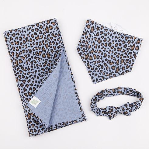 Leopard Bib and Muslin Gift Set