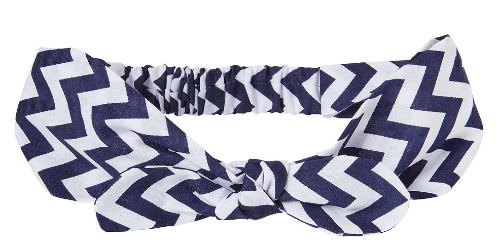 Navy Zig Zag Miss Mop Hairband