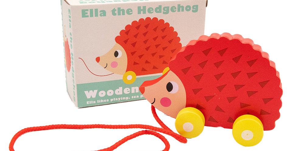 Wooden Pull Along Hedgehog