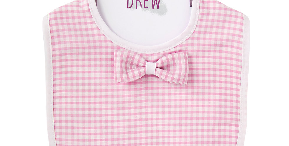Pink Gingham Original Bib