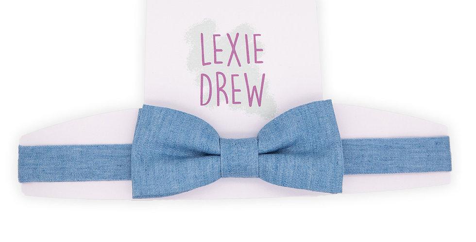 Blue Denim Daddy Bow Tie