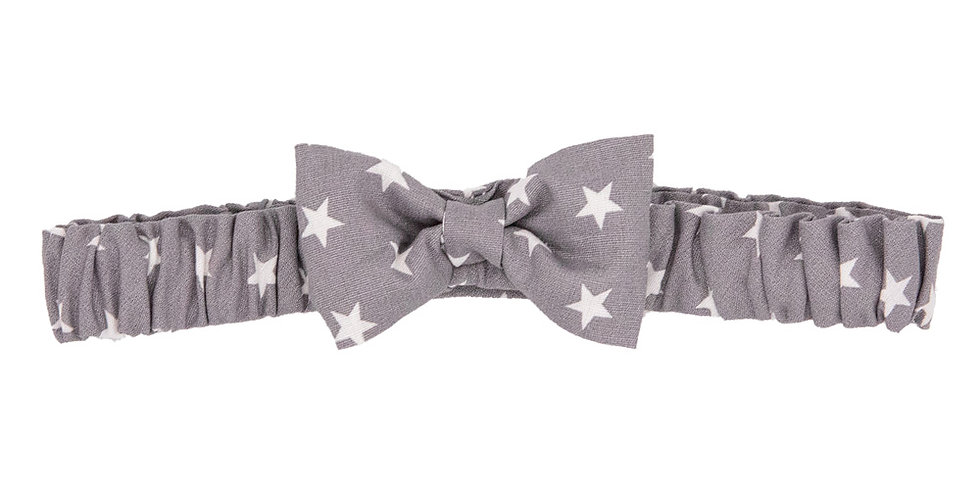 Grey Star Soft Bow Hairband