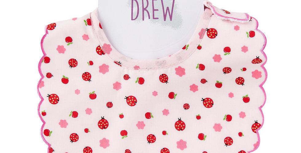 Ladybird Print Dolly Bib