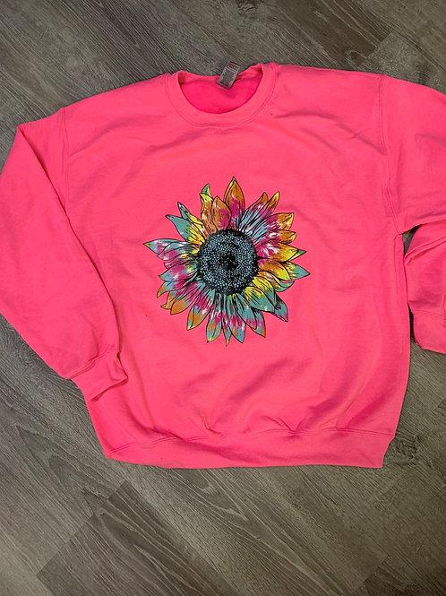 Tie Dyed Sunflower