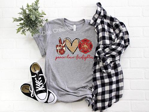 Peace Love Firefighter