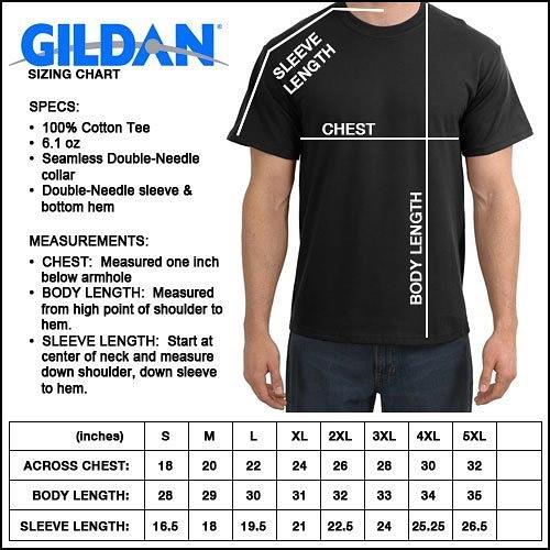 Gildan size chart
