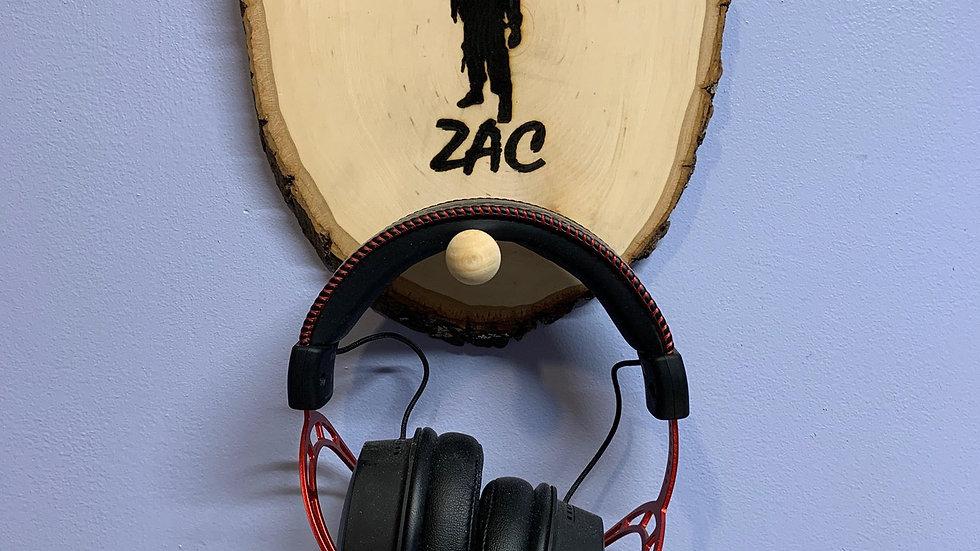 Wood decor headset holder for gamer