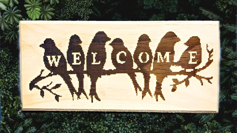 Door Welcome Sign