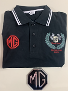 MG Car Club Malta Black Polo