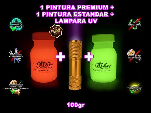 KIT Pinturas 1 Premium + 1 Estándar  +1 lampara UV