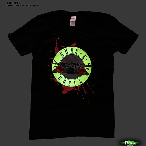 Playera Guns N' Roses Cuello en V