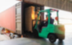 forklift driver loading cargo pallet shi