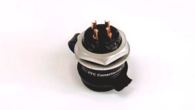 Base Redonda Conector M16  4 Contatos C/ P. Cabo PG7 - ITC Conectores REF. CRV42