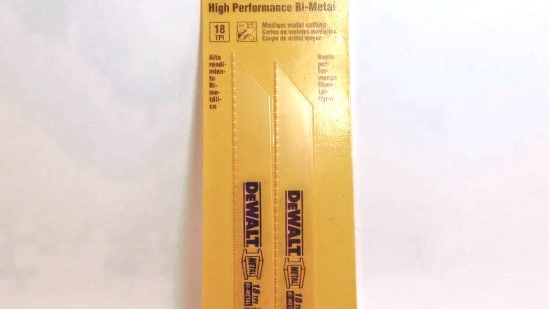 """Lâmina bi-metálica 6"""" 18TPI Performance para Serra sabre Dewalt REF.DW4811-2"""