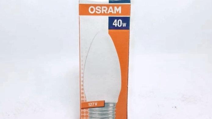 Lâmpada Vela Leitosa 40W 127V E27/ES classic B Osram