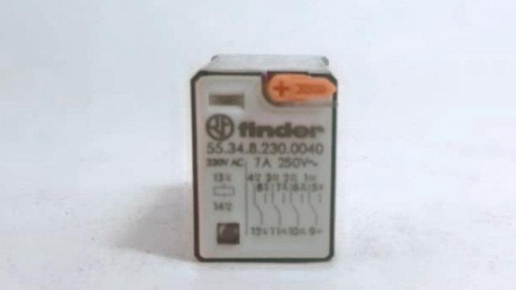 Relé Finder 7A 250Vac 4PDT REF. 55.34.8.230.0040