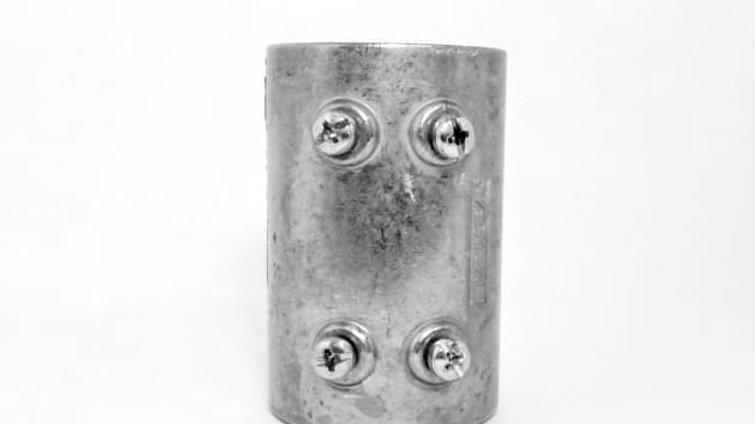 """Luva Unidut Reto 1.1/2"""" Aluminio Daisa UR(T)110 C-PB"""