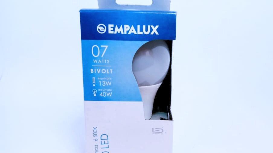 Lâmpada Bullbo A60 LED 07watts E27 Bivolt Luz Branca 6500K Empalux AL07562
