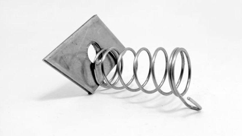 Porca M10 c/ mola Aço Inox 304 - fixação de eletrocalhas e leitos