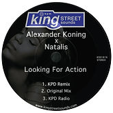 Natalis the singer, Alexander Koning, Looking for Action Cover Art, Spotify, iTunes, Tidal