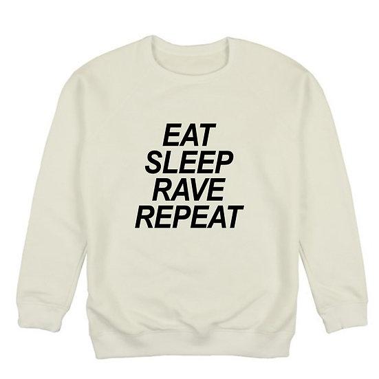 "Світшот 3-х нитка ""Eat Sleep Rave Repeat"""