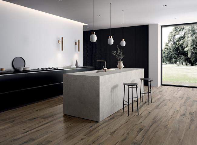 Trefliser til kjøkkenet - Brown 20 x 120