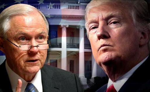 TRUMP URGES SESSIONS TO END RUSSIA PROBE