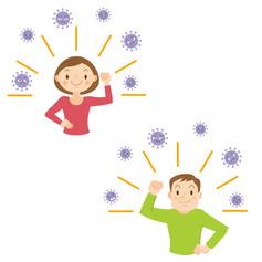 ストックイラスト 素材 テーマ「免疫力」