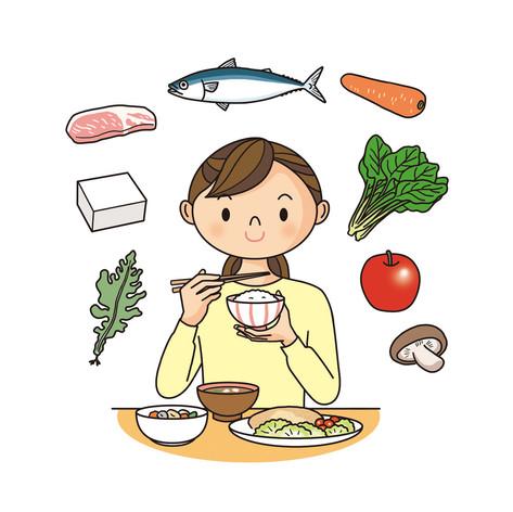 ストックイラスト 素材 テーマ「バランスの良い食生活」