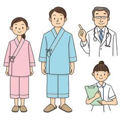 ストックイラスト 素材「健康診断」